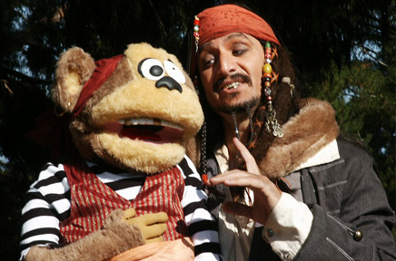The Comedy Pirate Captain Jack Spareribs and his 1st Mate Maynard